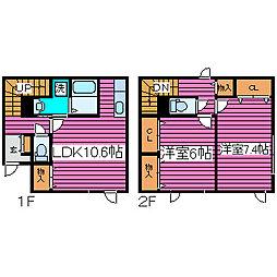 [タウンハウス] 北海道札幌市北区西茨戸四条2丁目 の賃貸【/】の間取り