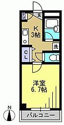 殿山IVY[102kk号室]の間取り