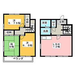 [テラスハウス] 静岡県掛川市中央高町 の賃貸【/】の間取り