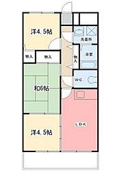 アルモニー東今宿[1階]の間取り