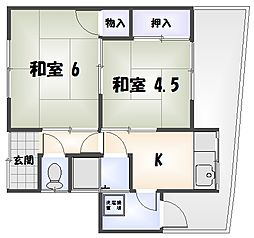 [テラスハウス] 徳島県徳島市沖浜町 の賃貸【/】の間取り