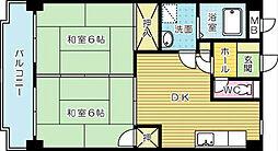 クレベール片野[603号室]の間取り