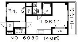 ファイブコート[2階]の間取り