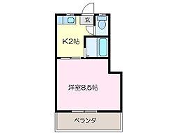 第3三恵ビル[3階]の間取り
