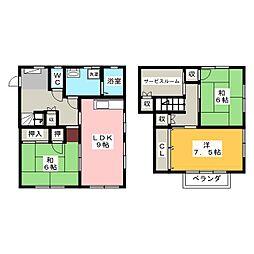 [一戸建] 静岡県浜松市中区広沢2丁目 の賃貸【/】の間取り