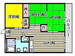 Uマンション[3階]の間取り