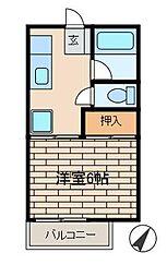 エイトハイツ[1階]の間取り