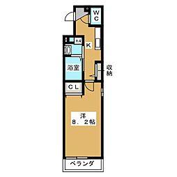 レジデンスプリムローズ[2階]の間取り