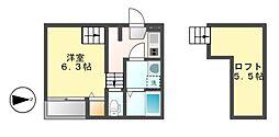 Stage名駅西[1階]の間取り