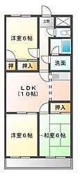 愛知県豊田市井上町4丁目の賃貸マンションの間取り