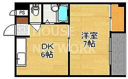 西賀茂ロイヤルリバーマンション[108号室号室]の間取り