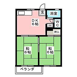 フォーブル建穂[2階]の間取り