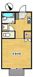 愛知県豊田市大林町16丁目の賃貸アパートの間取り