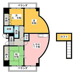 ノーブルハイツ中島田[10階]の間取り