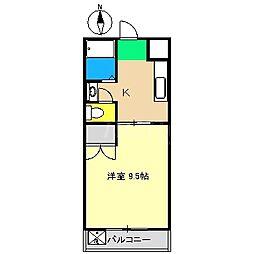 ヴィラまほら[5階]の間取り