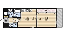 Osaka Metro長堀鶴見緑地線 横堤駅 徒歩9分の賃貸マンション 2階1DKの間取り