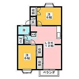 サンベール高島 B棟[2階]の間取り