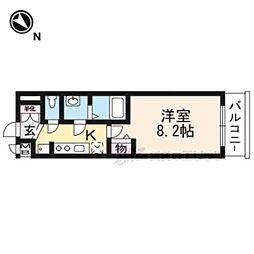 ベラジオ京都一乗寺II404号室 4階1Kの間取り