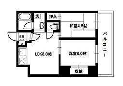 マッセ新大阪ハイツ旧館[6階]の間取り