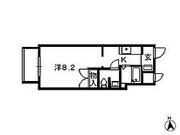 千葉県松戸市新松戸の賃貸マンションの間取り