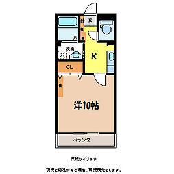 プリヴェールヤマギシIII[1階]の間取り