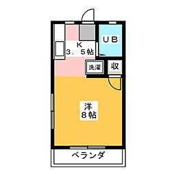 R&Y吉沢 B棟[2階]の間取り