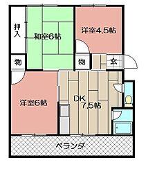 寿ビル(小倉南区)[301号室]の間取り