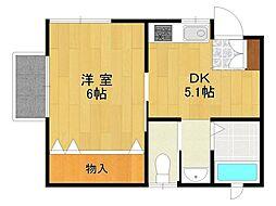 ナウハウス2[2階]の間取り