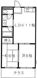ドミール88[3階]の間取り