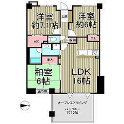 グランシティ鎌倉植木の杜[610号室]の間取り
