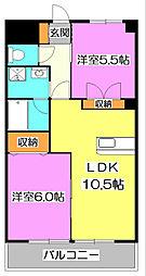 Evergreen武蔵野[2階]の間取り