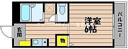 岡山県倉敷市西阿知町丁目なしの賃貸マンションの間取り