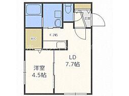 仮称)澄川2-3B棟 1階1LDKの間取り