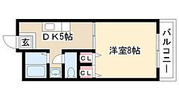 エクセル瑞雲[A206号室]の間取り