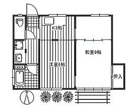 川島荘 bt[101kk号室]の間取り