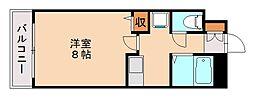 ダブルーンVIII桜坂[7階]の間取り