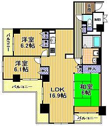 酉島リバーサイドヒルなぎさ街20号棟[3階]の間取り