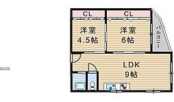 マンション山田[401号室]の間取り