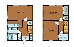 [テラスハウス] 東京都町田市高ヶ坂5丁目 の賃貸【/】の間取り