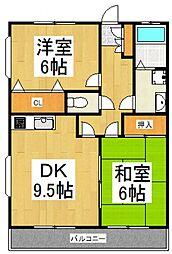 109ハウス[2階]の間取り