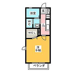 ヴィータ・中田本町 A棟[2階]の間取り