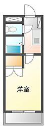 バディマンション東茂原[3F号室]の間取り