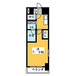 サムティ熱田RESIDENCE 7階1Kの間取り