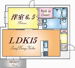 兵庫県神戸市須磨区須磨本町1丁目の賃貸マンションの間取り