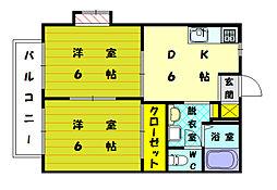 リゼール彩 3[2階]の間取り