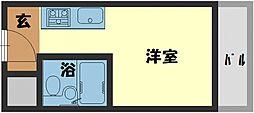 ヴィラ守口 5階1Kの間取り