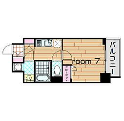 アーバネックス梅田西[7階]の間取り