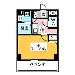 K's house 玉の井[5階]の間取り