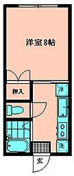 フローラルタウン[203号室]の間取り