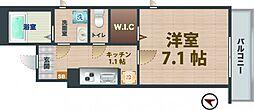 JR中央線 阿佐ヶ谷駅 徒歩11分の賃貸アパート 1階1Kの間取り